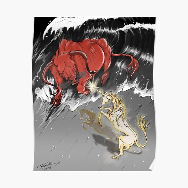 The Last Unicorn Battles The Red Bull Poster