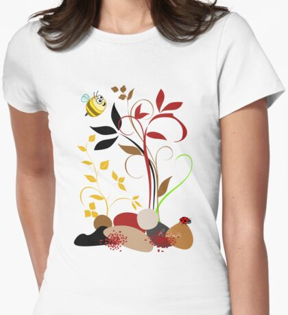 The Bee And The Ladybug With A Smile T-Shirt