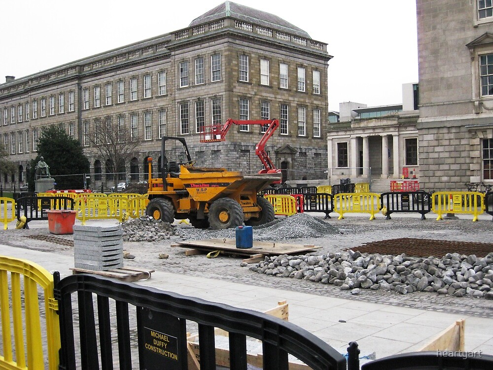 Construction at Trinity College Dublin, Ireland by heartyart