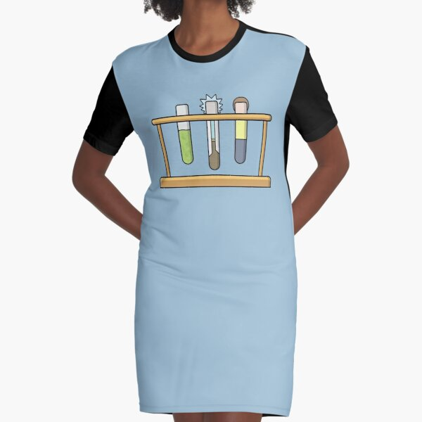 Rick & Morty Science  Graphic T-Shirt Dress