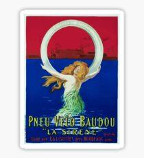 Leonetto Cappiello Affiche Pneu Baudou Sticker