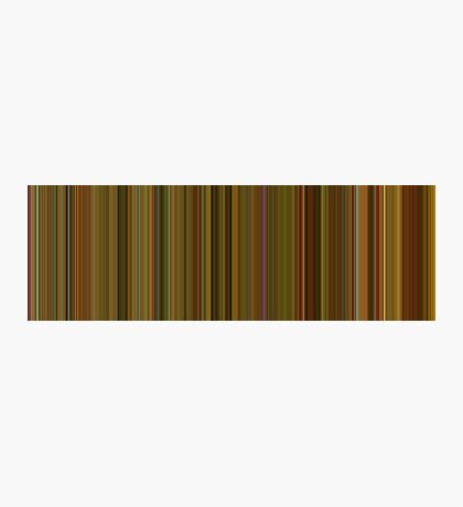 Moviebarcode: Amélie (2001) [Simplified Colors] Photographic Print