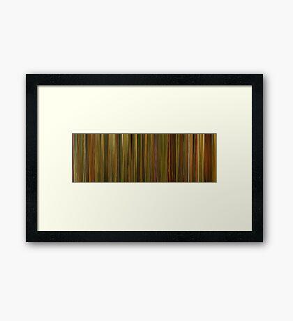 Moviebarcode: Amélie (2001) Framed Print