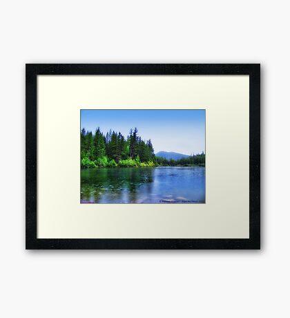 Autumn Rain (Lion Lake) Framed Print