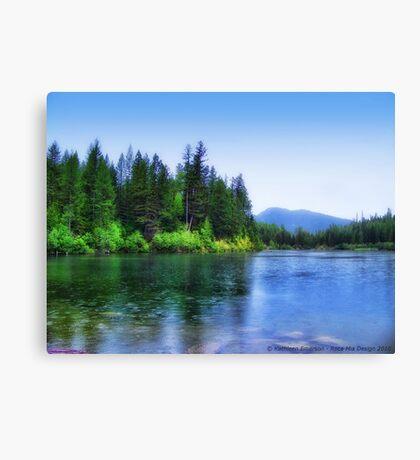 Autumn Rain (Lion Lake) Canvas Print