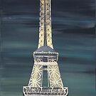 Eiffel Tower by Dawn  Hawkins