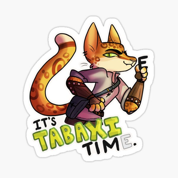 Tabaxi Stickers Redbubble I understand that tabaxi are supposed to be tropical, but i liked the idea of going with a snow leopard aesthetic. redbubble