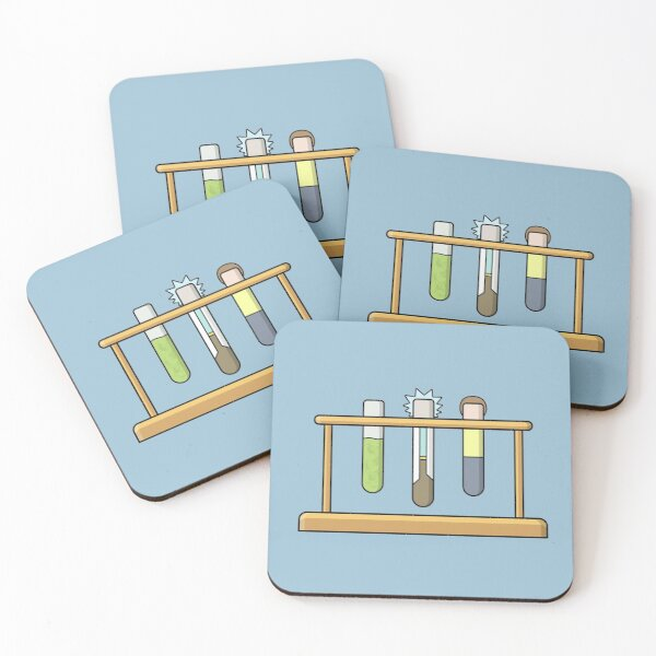 Rick & Morty Science  Coasters (Set of 4)