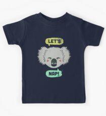 Sleepy Koala  Kids T-Shirt