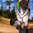 Pine Forest Wolf  by cybercat