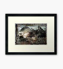 Charred Ruins Framed Print