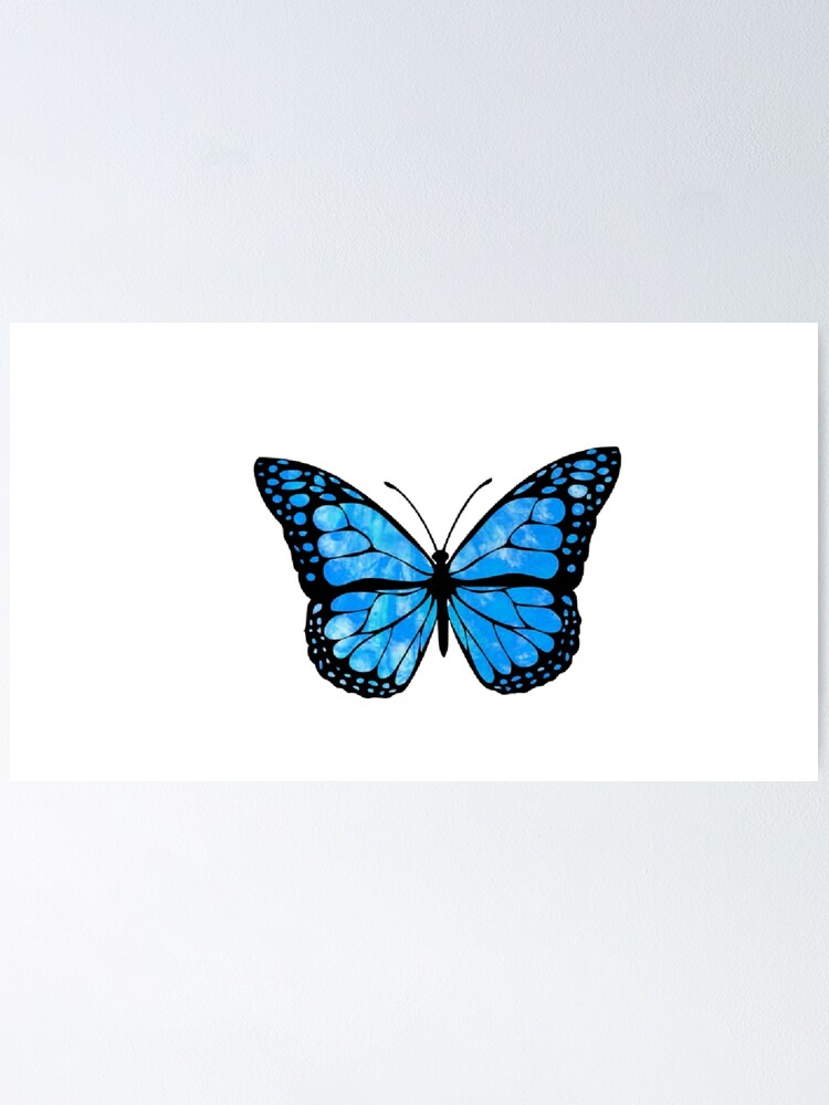 """""""Blue Butterfly Aesthetic"""" Poster by cameron304   Redbubble"""