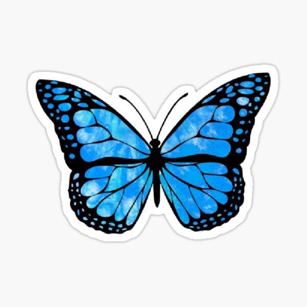 Blue Butterfly Aesthetic Sticker