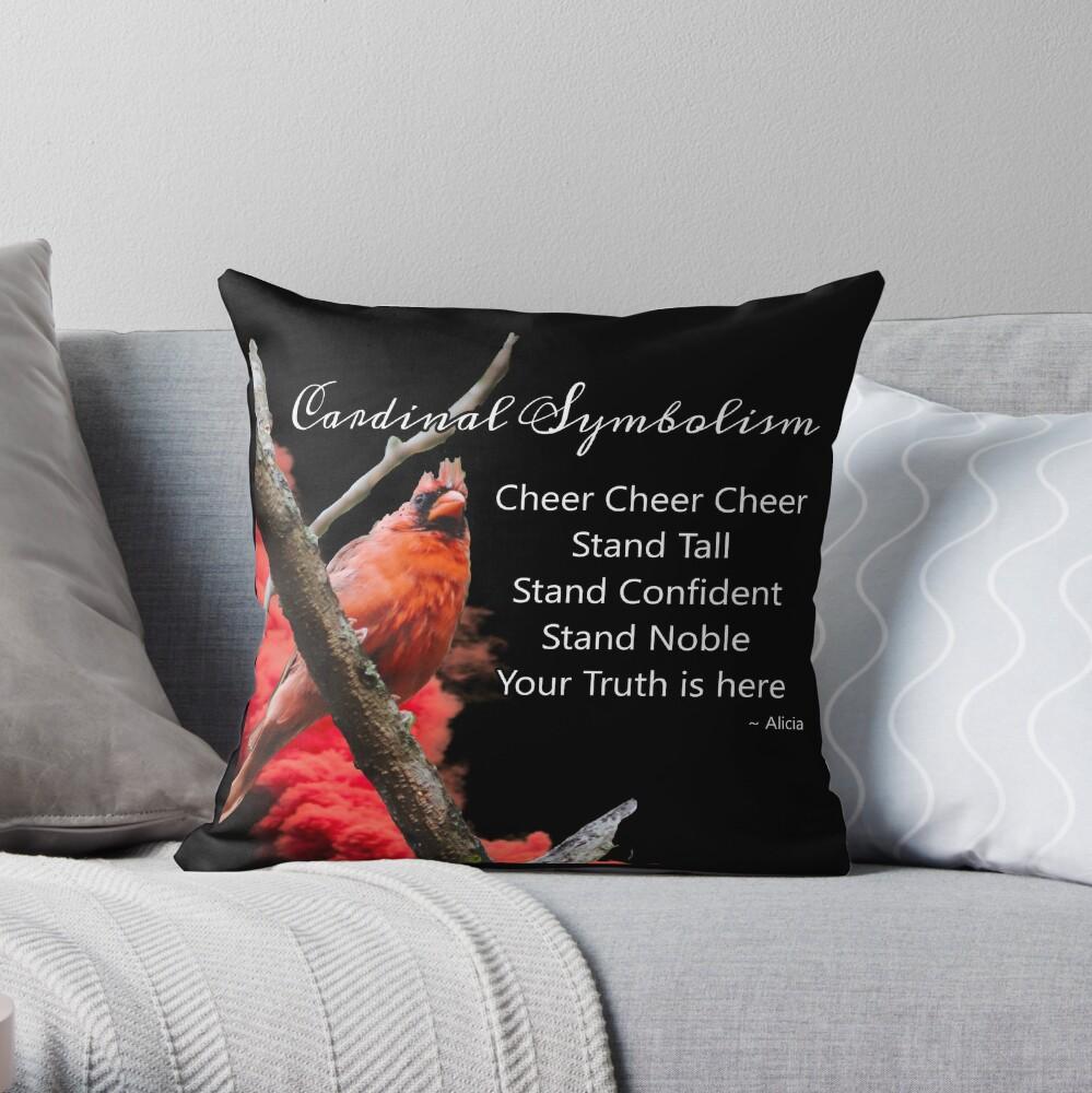 Cardinal Symbolism Throw Pillow