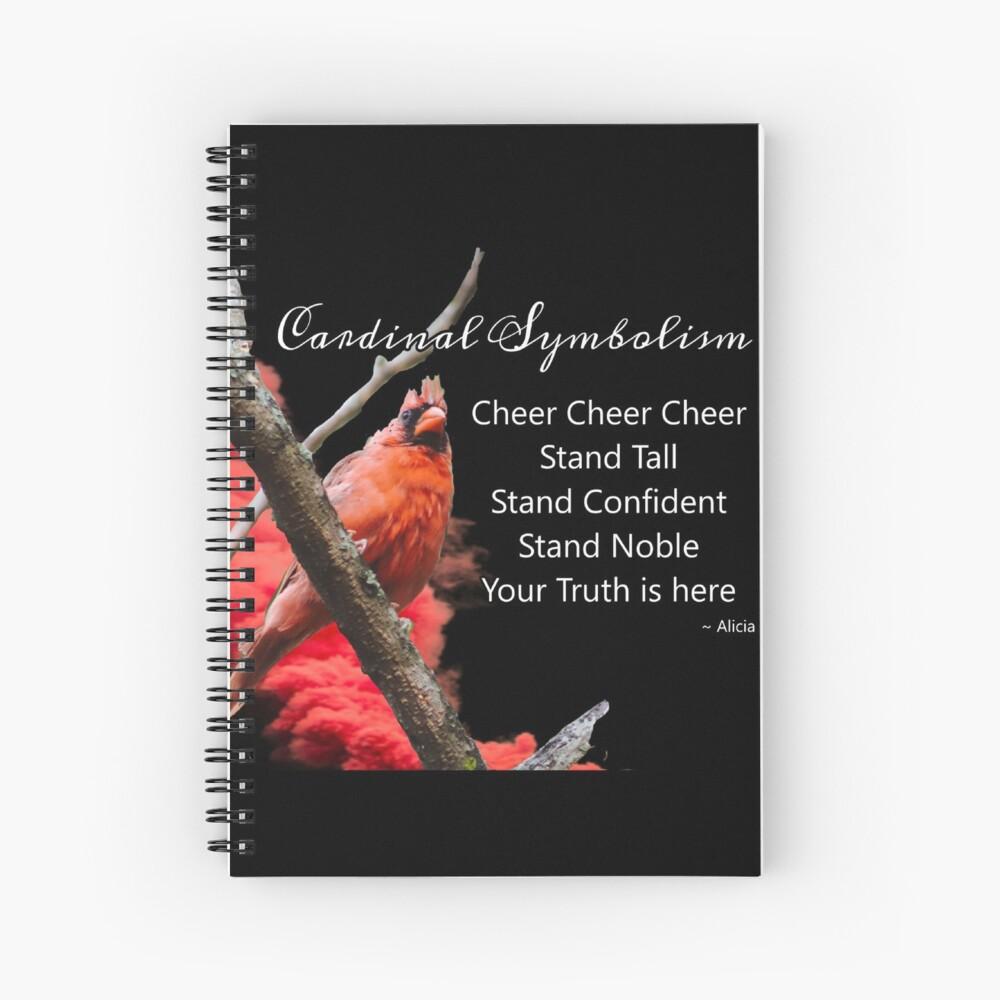Cardinal Symbolism Spiral Notebook