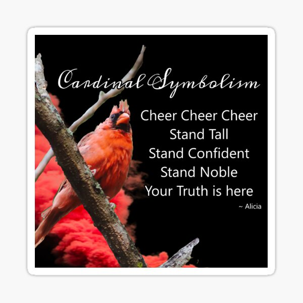 Cardinal Symbolism Sticker