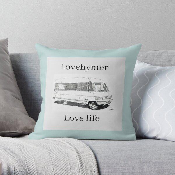 Lovehymer, love life designs Throw Pillow