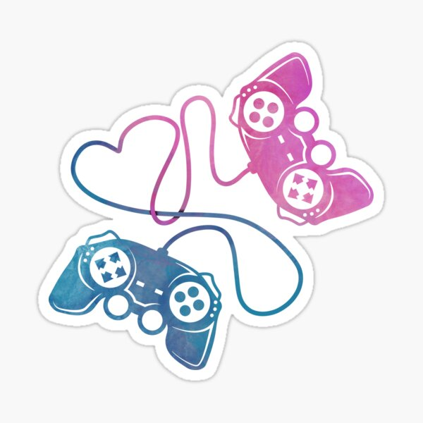 Gaming Couple Game Controller Sticker