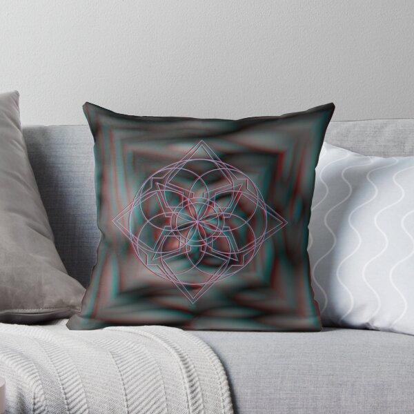 Anaglyph 3D Dark Throw Pillow