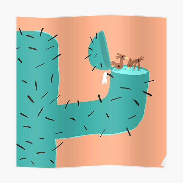 Secret Swimming Pool - Cactus Poster