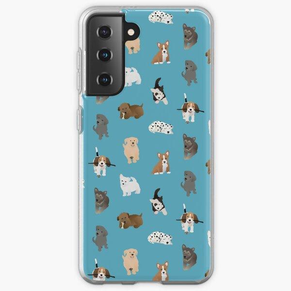 puppies (blue) Samsung Galaxy Soft Case