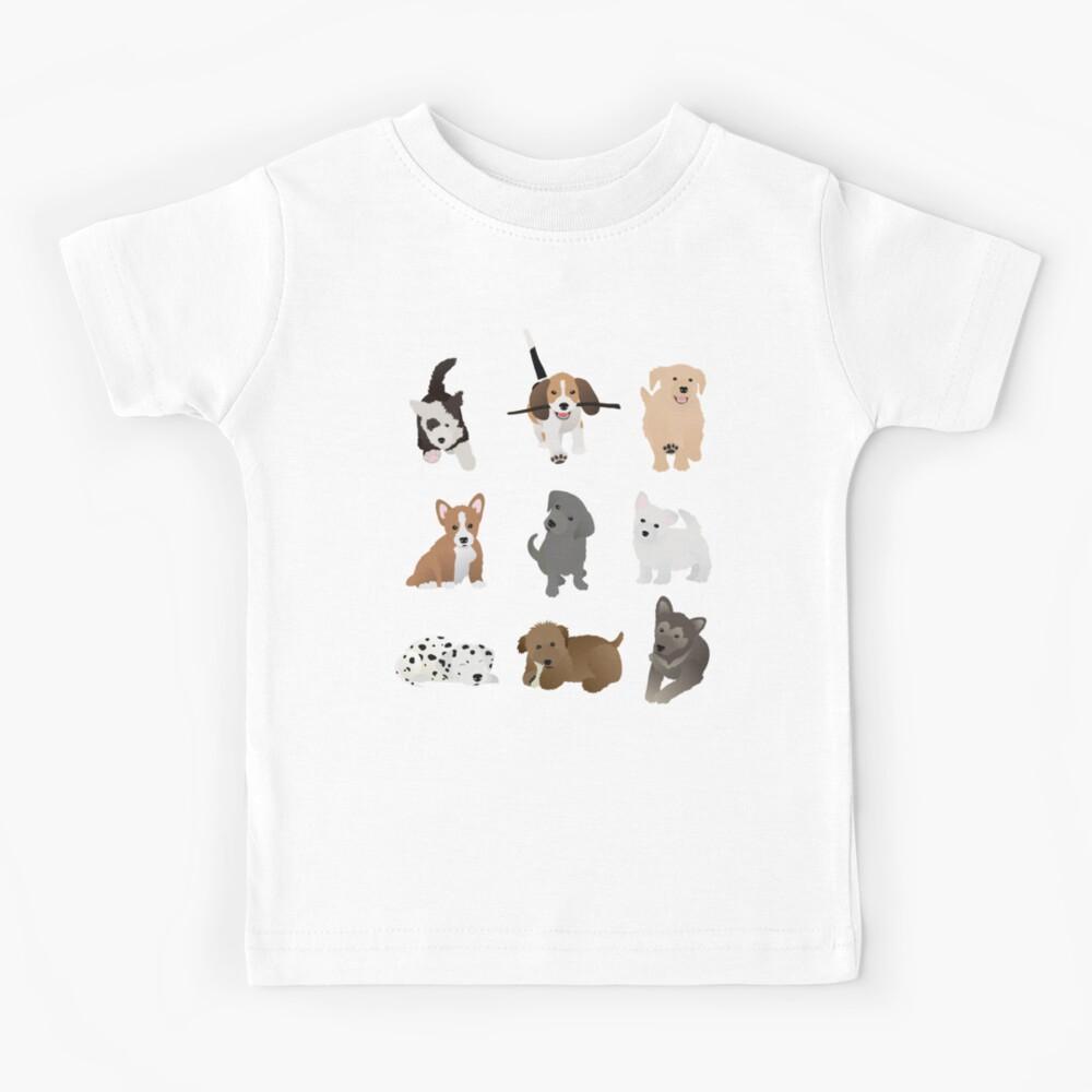 puppies (blue) Kids T-Shirt