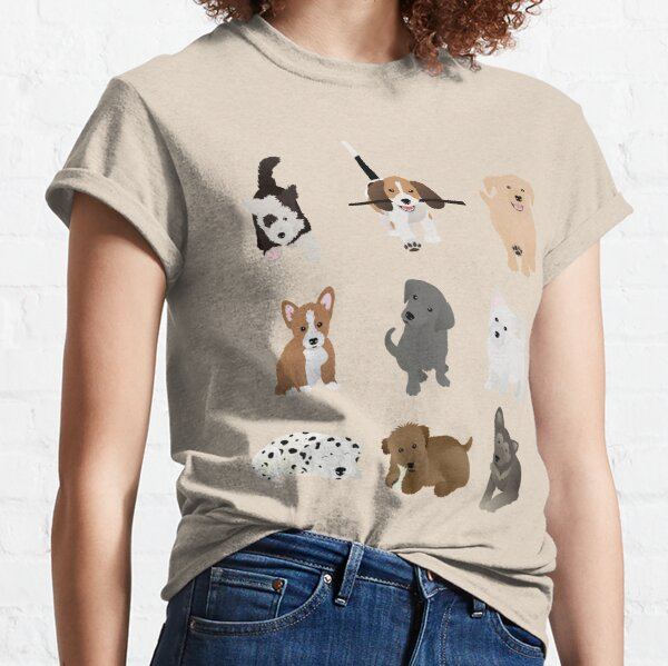 puppies (blue) Classic T-Shirt