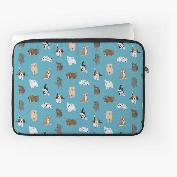 puppies (blue) Laptop Sleeve