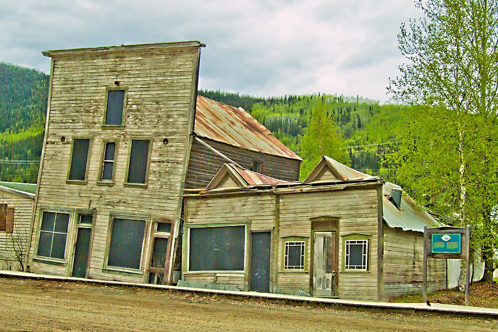 Dawson City Buildings by Yukondick