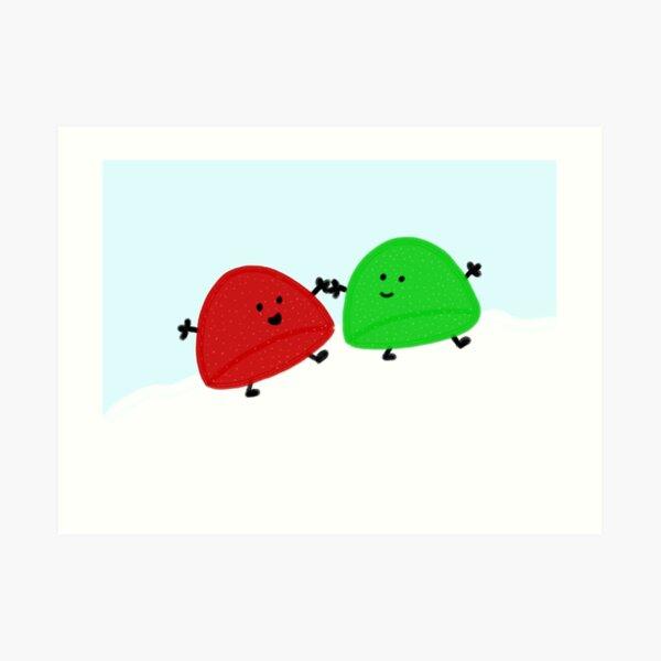 Gumdrop Friends Art Print