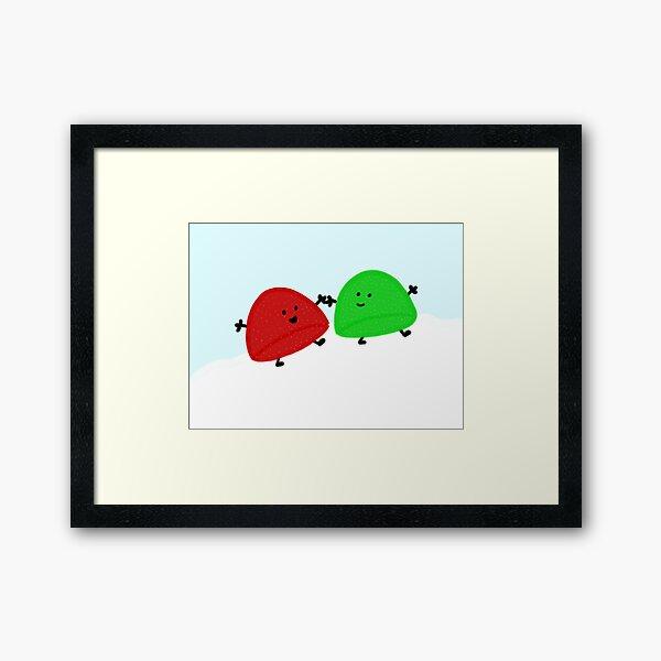 Gumdrop Friends Framed Art Print