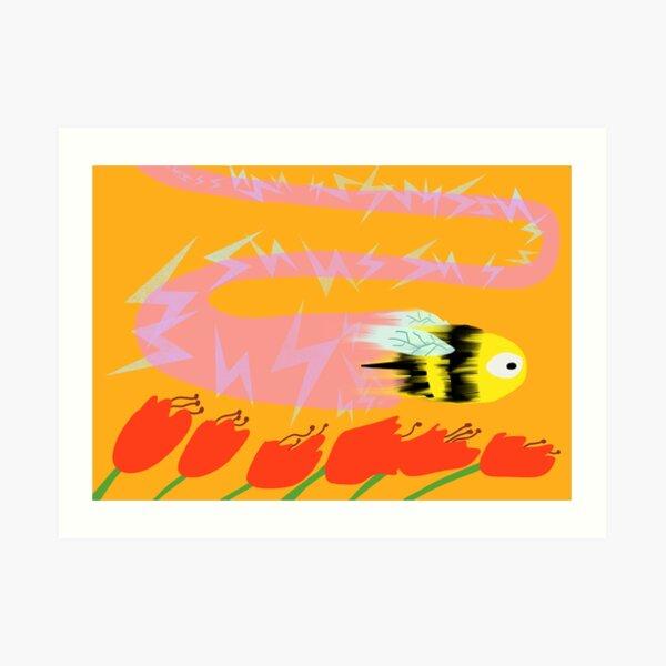 Bee, Warp Speed Art Print