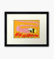 Bee, Warp Speed Framed Print