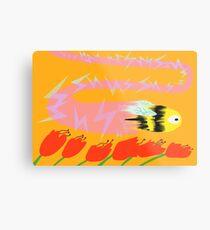 Bee, Warp Speed Metal Print