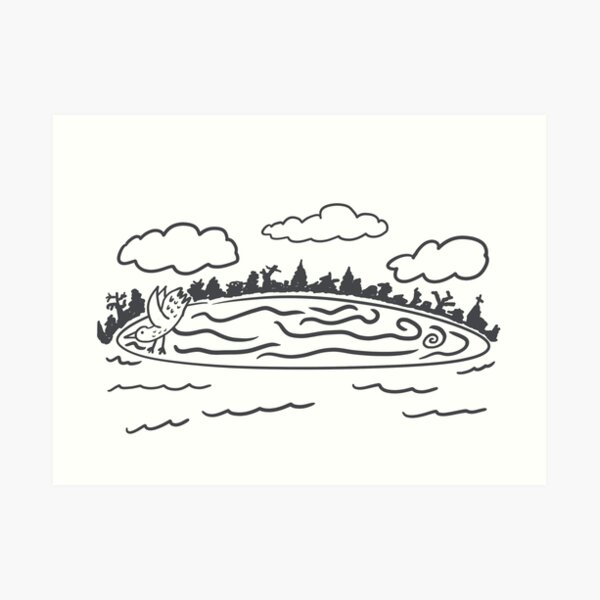 Westbrook Maine Ice Disk Art Print