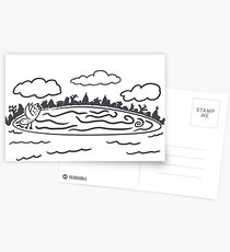 Westbrook Maine Ice Disk Postcards