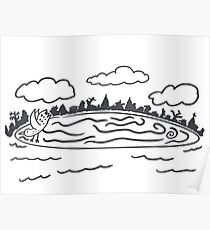 Westbrook Maine Ice Disk Poster