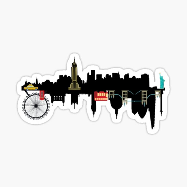 NYC and London Sticker
