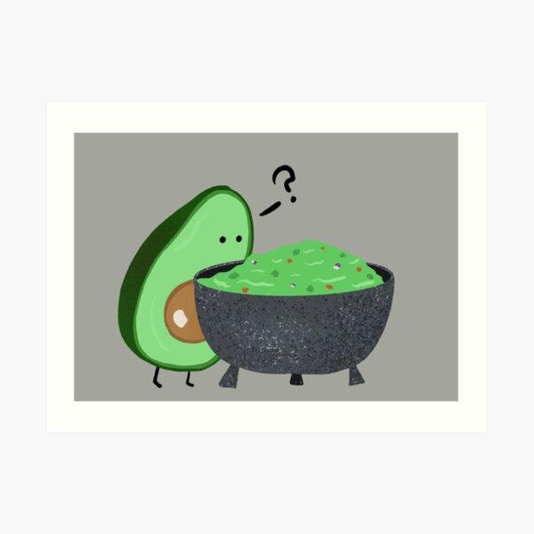 Guacamole Trouble Art Print