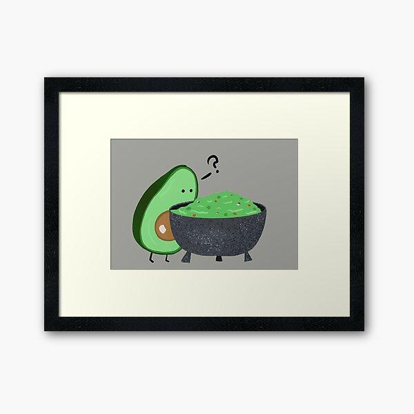 Guacamole Trouble Framed Art Print