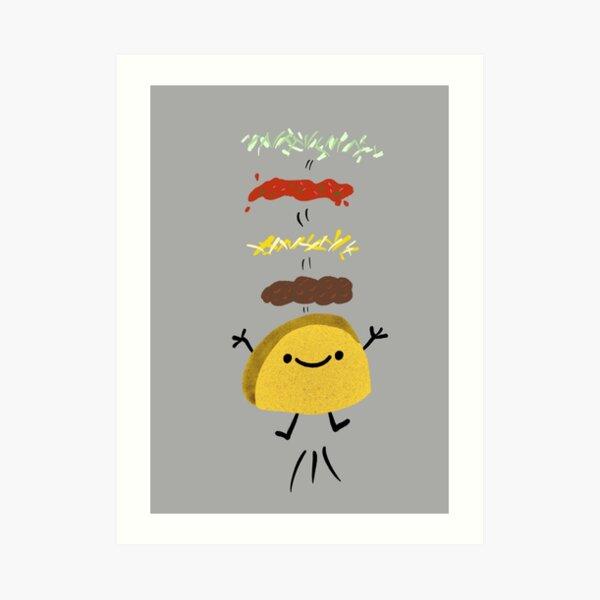 Taco Jumps For Joy Art Print