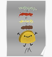 Taco Jumps For Joy Poster