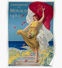 Leonetto Cappiello Affiche PLM Exposition Monaco Poster