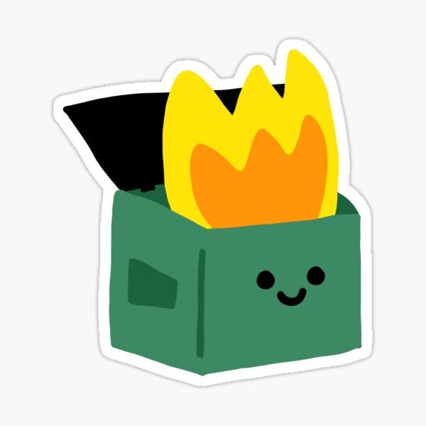 Kawaii Dumpster Fire Sticker