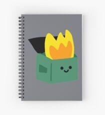 Kawaii Dumpster Fire Spiral Notebook