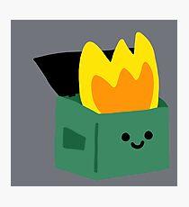 Kawaii Dumpster Fire Photographic Print
