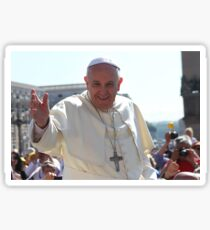 Pope Francis portrait Sticker