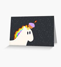 Unicorn Cupcake Birthday Card Greeting Card