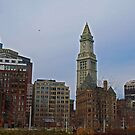 Atlantic Ave - A view of the Custom House Tower by Lee d'Entremont