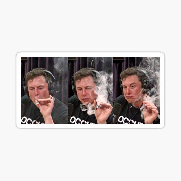 Elon Musk Smoking Weed On Joe Rogan Experience Picture Sticker